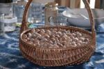 Thumbnail Basket full of hazelnuts on the table