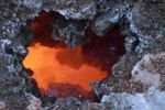 Thumbnail Molten lava a year after the eruption of a fissure vent in the Fimmvoerðuháls region, Fimmvoerðuháls hiking route, Þórsmoerk, Iceland, Europe