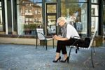 Thumbnail Young woman with mobile phone, in Bad Kissingen, Bayern, Germany, Europe