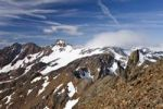 Thumbnail View of Hintere Eggenspitze mountain and the Weissbrunnferner, climbing Zufrittspitze mountain in the Ulten Valley, province of Bolzano-Bozen, Italy, Europe