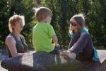 Thumbnail Mother and children in the park, Hamburg, Germany, Europe