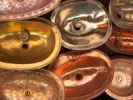 Thumbnail Handmade copper sinks into the souks of Essaouira, Morocco, North Africa, Africa