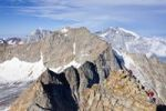 Thumbnail View during ascent to Mt Hoher Angelus, Ortler range, mountains Ortler, Koenig and Vertainspitze at back, South Tyrol, Italy, Europe