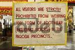 Thumbnail shoe ban in buddhist temples, Myanmar