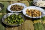 Thumbnail different vegetarian dishes from Myanmar