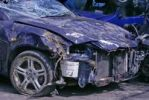 Thumbnail Front of a car involved in an accident