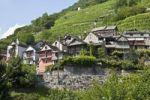 Thumbnail Overlooking the village of Vogorno, Valle Verzasca Valley, Ticino, Switzerland, Europe