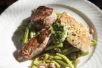 Thumbnail Grilled dish with fillet steak, turkey breast, pork loin, green beans and bacon