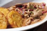 Thumbnail Pork Stroganoff and hash browns