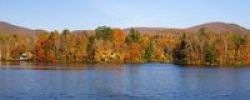 Thumbnail Sallys Pond in autumn, panorama, West Bolton, Quebec, Canada