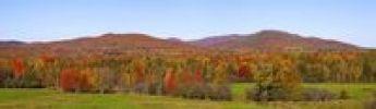 Thumbnail Autumnal panorama, Bondville, Quebec, Canada