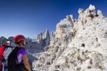 Thumbnail Climbers ascending Mt Paternkofel or Paterno, Tre Cime di Lavaredo massif in the back, Hochpustertal valley or Alta Pusteria, Sexten, Dolomites, South Tyrol, Italy, Europe