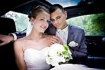 Thumbnail Young bridal couple in a car