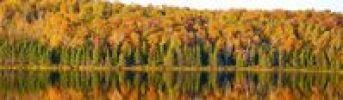 Thumbnail Autumn panorama, lake, South Bolton, Quebec, Canada