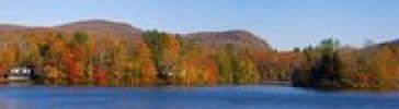 Thumbnail Autumn panorama, Ville de Lac Brome, Quebec, Canada