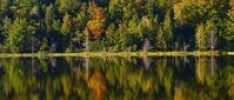Thumbnail Panorama of lake in autumn, Iron Hill, Quebec, Canada
