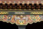 Thumbnail Symbolic representation of a tiger on the beams of a building, Thimphu, Bhutan, South Asia
