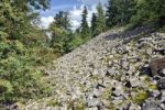 Thumbnail Boulder field on the Lysica peak, Swiety Krzys, Holy Cross Mountains, Swietokrzyski National Park, Holy Cross National Park, Poland, Europe