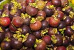 Thumbnail Purple Mangosteen (Garcinia mangostana), market in the market halls, Singaraja, North Bali, Bali, Indonesia, Southeast Asia, Asia