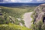 Thumbnail Landscape behind Njupeskaer waterfall, Fulufjaellet National Park, Dalarna county, Sweden, Scandinavia, Europe