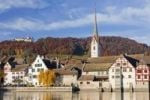 Thumbnail Castle and church of Stein am Rhein in autumn, Rhine, Switzerland, Europe, PublicGround