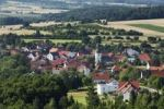 Thumbnail Gunzendorf, view from Senftenberg, municipality of Buttenheim, Little Switzerland, Upper Franconia, Franconia, Bavaria, Germany, Europe, PublicGround