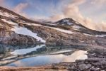 Thumbnail Lake and Litlrago peak, Rago National Park, Nordland county, Norway, Scandinavia, Europe