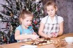 Thumbnail Girls baking Christmas cookies
