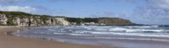 Thumbnail White Park Bay or Whitepark Bay with Portbradden, Antrim Coast, County Antrim, Northern Ireland, United Kingdom, Europe