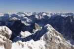 Thumbnail View from Zugspitze Mountain over Jubilaeumsgrat Ridge with the Hoellentalspitzen Mountains and Hochblassen Mountain, Wetterstein Mountains, Upper Bavaria, Bavaria, Germany, Europe