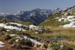 Thumbnail View from the Rofan mountains onto the Karwendel mountains, Tyrol, Austria, Europe