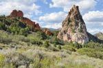 Thumbnail Gray Rock or Cathedral Rock, Garden of the Gods, red sandstone rocks, Colorado Springs, Colorado, USA