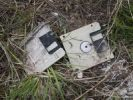 Thumbnail Old discarded floppy discs, data garbage lying in the grass