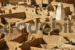 Thumbnail Old walls made of clay with minaret old city Ghat Fezzan Libya