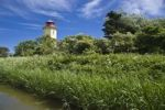 Thumbnail Lighthouse on the dyke, Westermarkelsdorf, Island of Fehmarn, Baltic Sea, Schleswig-Holstein, Germany, Europe