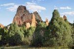 Thumbnail Cathedral Rock or Gray Rock, Garden of the Gods, red sandstone, Colorado Springs, Colorado, USA