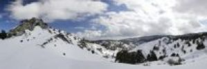 Thumbnail Panorama with snow in the Troodos Mountains, Cyprus, Greece, Europe