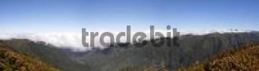 Thumbnail view to mountains along the river Ribeira da Janela, Madeira, Portugal