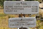 Thumbnail Signposts at Poudre Lake, Trail Ridge Road, Rocky Mountain National Park, Colorado, USA