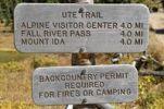 Thumbnail Signposts at Poudre Lake, Trail Ridge Road, Rocky Mountain National Park, Colorado, USA