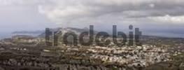 Thumbnail view to the town of Thira, Pyrgos, Santorini, Greece