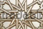 Thumbnail Symmetric pattern star iron portal of mosque Hassan II Casablanca Morocco