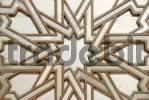Thumbnail Symmetric pattern star iron portal of mosque Hassan II Casablanca Morocco