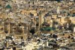 Thumbnail View of countless houses of the old town with Kairaouine mosque and minaret Fes Morocco