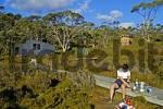 Thumbnail cooking at Waterfall Valley Hut on Overland Track in Cradle Mountain NationalparkTasmania Australia