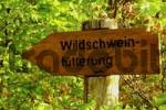 Thumbnail sign quotWild-schweinfuetterungquot wild boar feeding