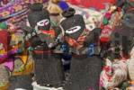 Thumbnail Subcommandante Marcos puppets with guns indian market San Cristobal de las Casas Mexico