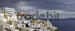 Thumbnail dark clouds of a thunderstorm, Thira, Santorini, Greece