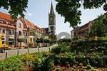 Thumbnail BRD Germany Brandenburg Oranienburg Church St Michael at the City Square Flowers