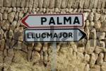 Thumbnail road signs, Cala Pi, Majorca, Spain